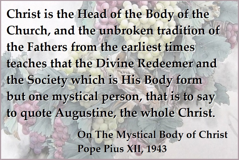 On The Mystical Body of Christ