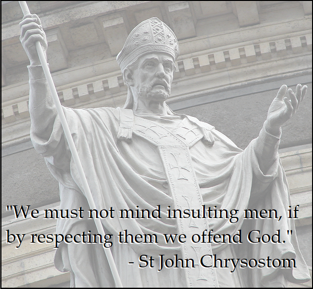 St. John Chrysostom Insulting Men